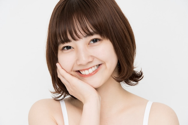 Image De Soins De La Peau Femme Japonaise Photo Premium