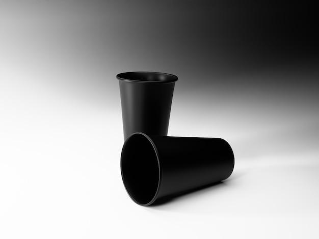 Image de tasse de café noir sur fond blanc