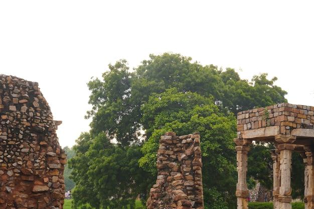 Image de la vieille structure historique indienne en plein air