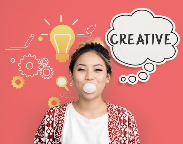 Imaginer une bulle de pensée d'inspiration créative