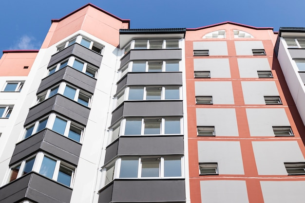 Immeuble résidentiel moderne à plusieurs étages construction de logements fonds résidentiel hypothèque familles