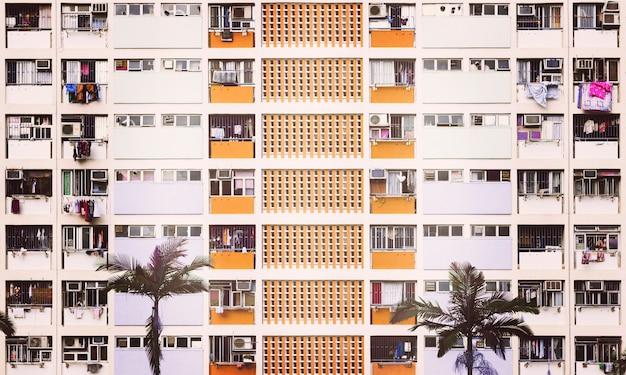 Immeuble résidentiel multi-étages compact
