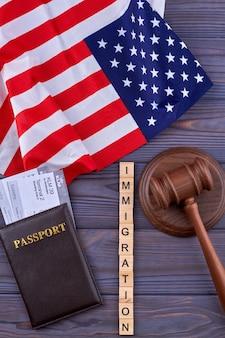 L'immigration des états-unis à plat.