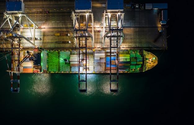 Importation et exportation internationale par expédition de conteneurs maritimes et station de fret