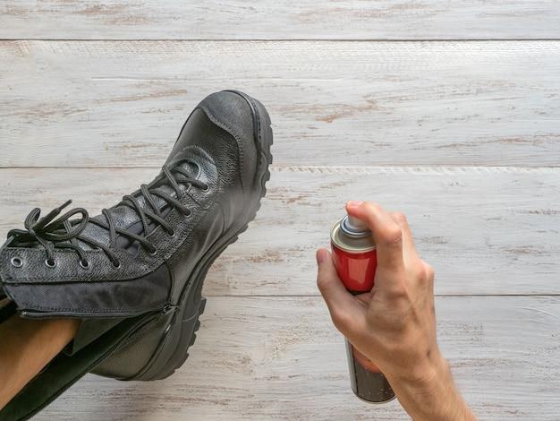 Imprégnation de bottes en cuir pour l'hiver et l'humidité.