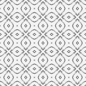 Impression adorable prête pour le textile, tissu de maillot de bain, papier peint, emballage. design d'été boho chic énergique noir et blanc. modèle sans couture de mosaïque. bordure transparente de mosaïque verte dessinée à la main.