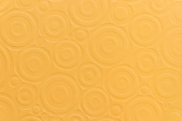 Impression de fond circulaire texture jaune