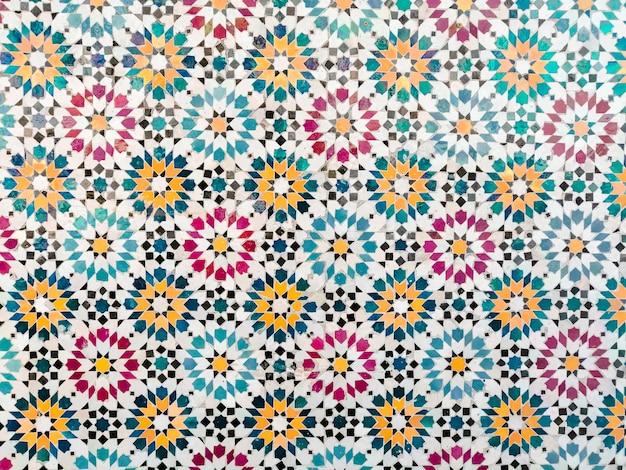 Impression de fond mosaïque colorée