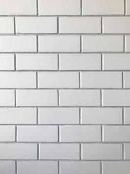 Impression de fond de mur de brique blanche.