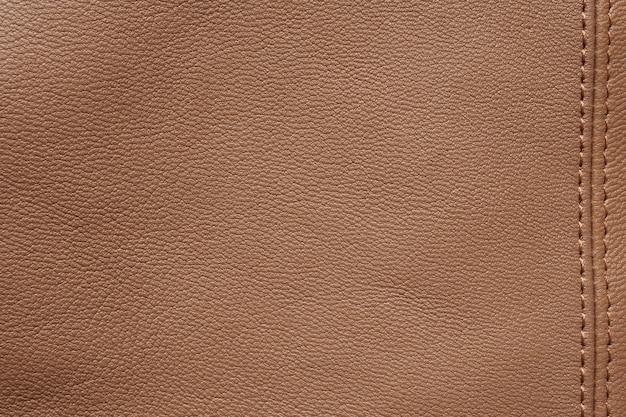 Impression de fond texture cuir marron naturel abstrait