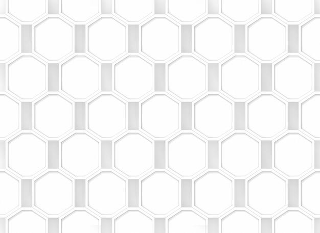 Impression de fond transparente moderne octogonale blanche.