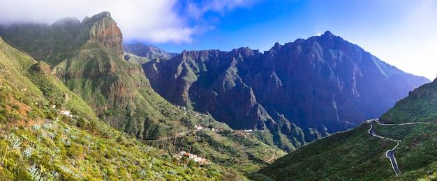 Impressionnant volcanique de tenerife - village de montagne de masca. les îles canaries