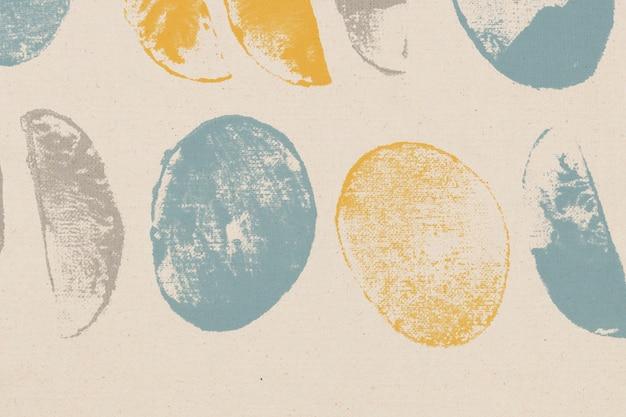 Impressions faites à la main de fond de modèle de cercle coloré