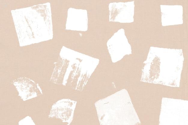 Impressions à la main de fond beige motif carré