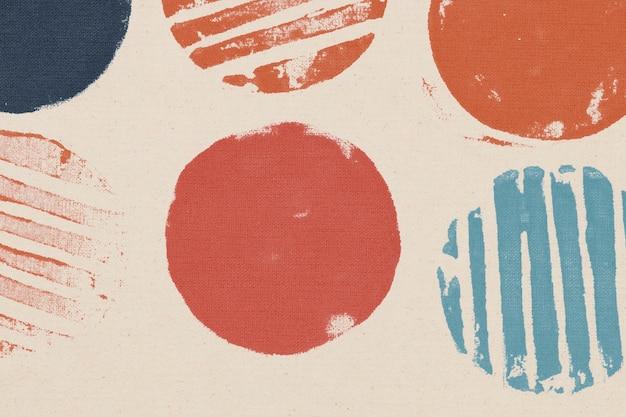 Impressions à la main de fond cercle coloré