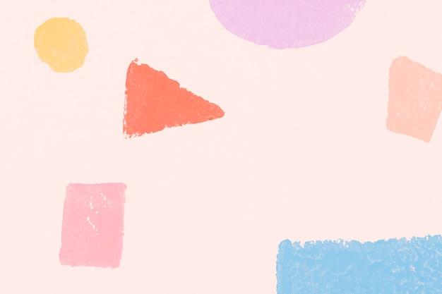 Impressions à la main de fond de motif géométrique coloré