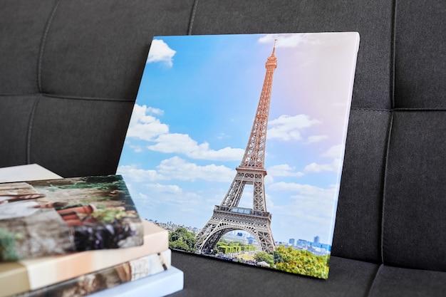Impressions sur toile photo étirées avec pellicule de galerie sur cadre