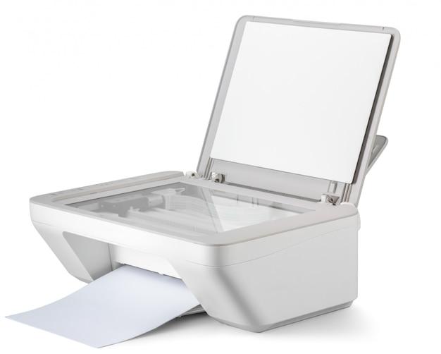 Imprimante isolée sur blanc