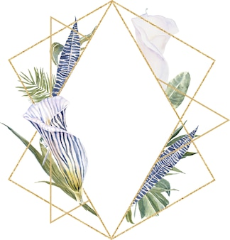 Imprimé de peau d'animal de fleurs sauvages, feuilles tropicales couronne florale exotique