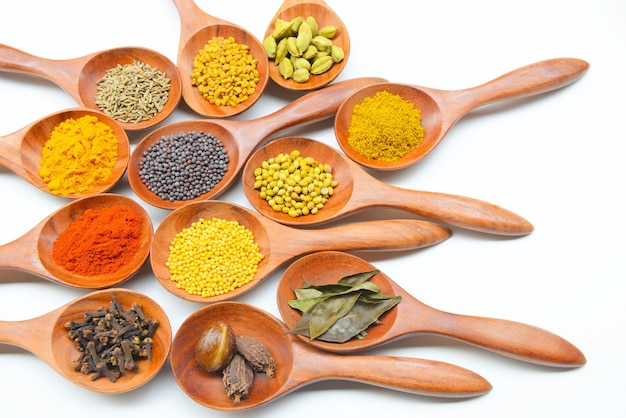 Inclure les épices et les herbes indiennes.