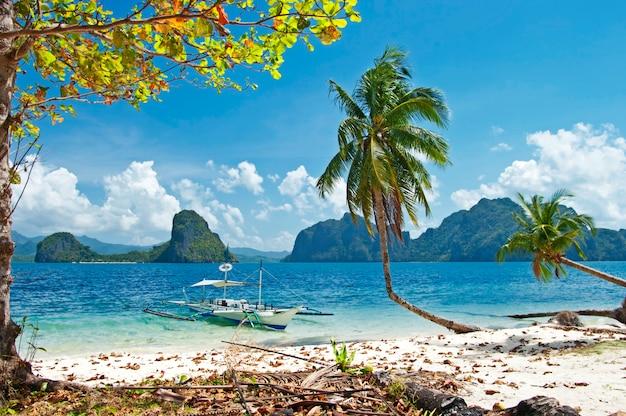 Incroyable escapade tropicale à palawan, île d'el nido. philippines