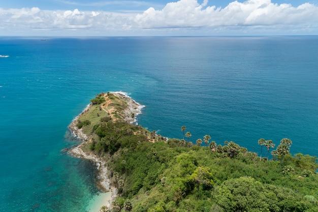Incroyable paysage nature paysage vue de la belle mer tropicale avec côte de la mer