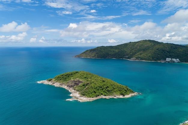 Incroyable paysage nature paysage vue de la belle mer tropicale