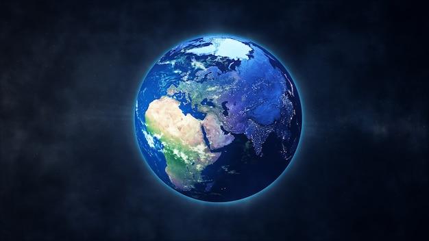 Incroyable planète terre dans l'espace vue sur l'europe