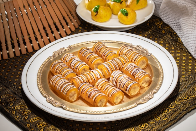 Indian famous multiple dry fruits mango roll sweet