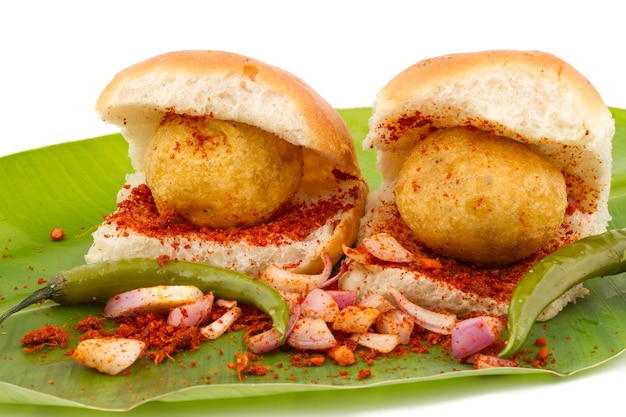 Indian vada pav nourriture