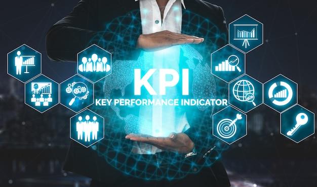 Indicateur de performance clé kpi pour le concept d'entreprise