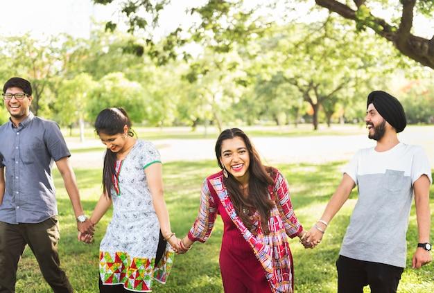 Indien, amitié, convivialité, concept