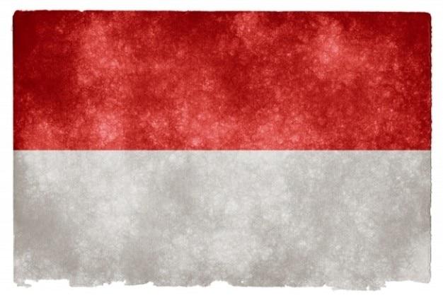 Indonésie grunge flag