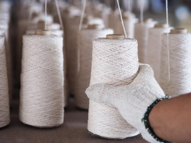 Industrie des fils textiles.