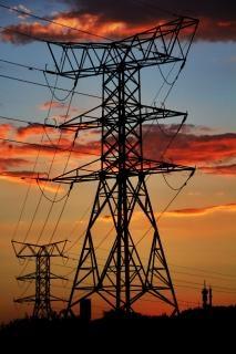 Industrielle coucher du soleil