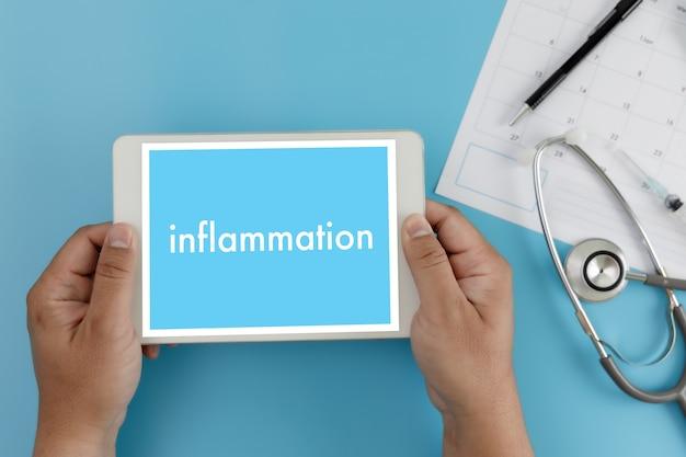 Inflammation inflammation articulaire concept médecin soins de santé rapport médical, ganglions lymphatiques, allergies. dermatologie.