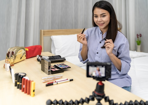 Influenceur de beauté vlogger