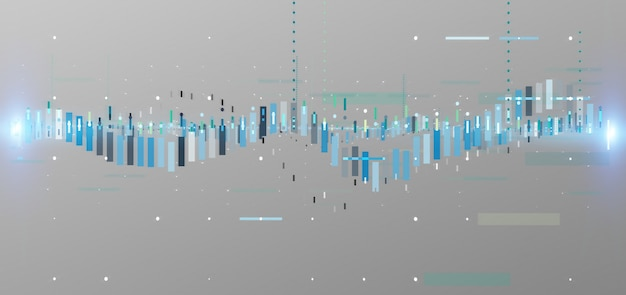 Information sur les données de négociation boursière entreprise isolée sur