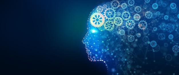 Informations d'analyse cyber esprit stratégie d'entreprise et concept de propriété intellectuelle