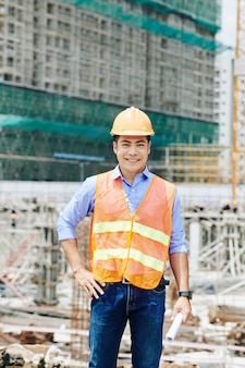 Ingénieur en chef sur chantier