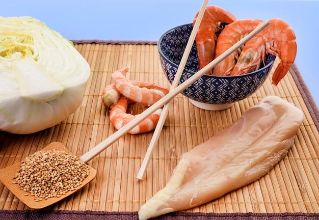 Ingrédient pour la salade chinoise