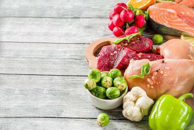 Ingrédients alimentaires diététiques à la mode de pegan