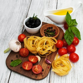 Ingrédients alimentaires italiens
