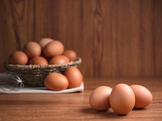 Ingrédients alimentaires d'œufs de poule biologiques