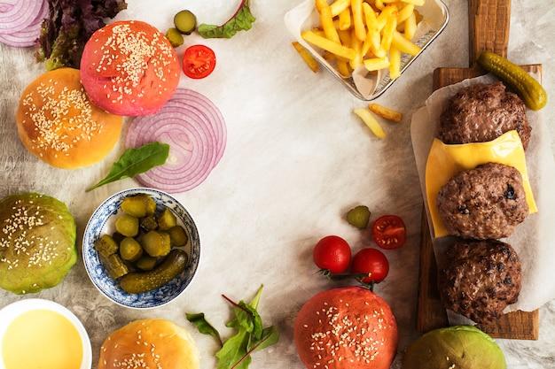 Ingrédients burger maison