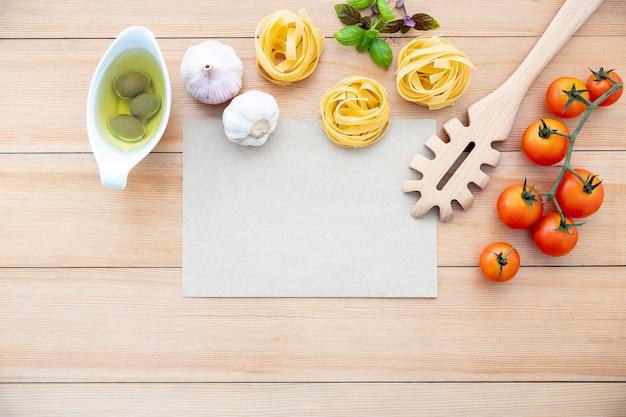 Ingrédients de cuisine italienne