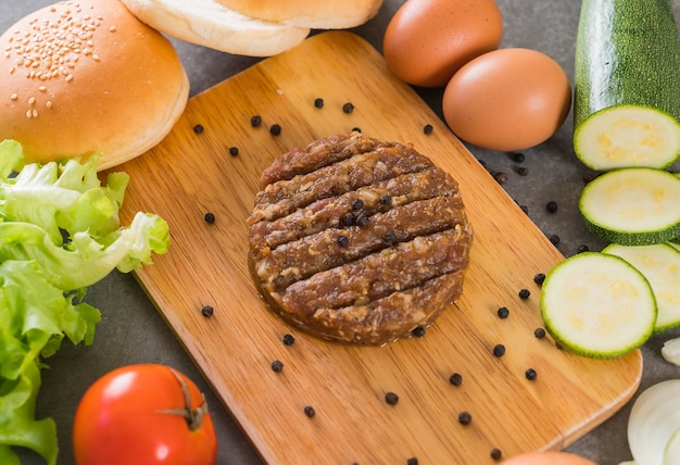 Ingrédients de hamburger