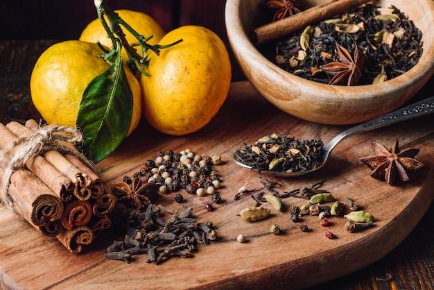 Ingrédients de masala chai
