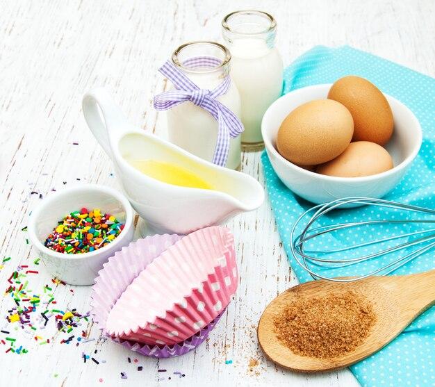 Ingrédients nécessaires pour la cuisson de petits gâteaux