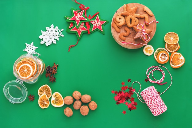 Ingrédients de noël décor naturel pour les cadeaux